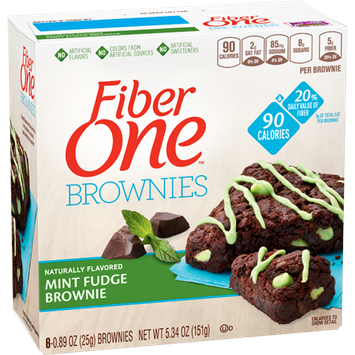 Fiber One 90 Calorie Mint Fudge Brownie