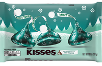 Hershey's Holiday Kisses Dark Chocolate Filled With Mint Truffle