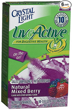 Crystal Light Live Active Natural Mixed Berry