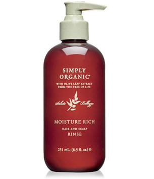 Simply Organic Moisture Rich Hair and Scalp Rinse 8.5 oz