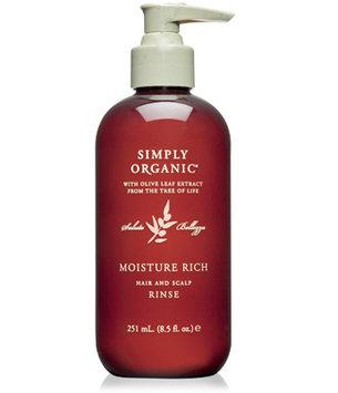 Simply Organic Moisture Rich Hair and Scalp Rinse 8.5 oz