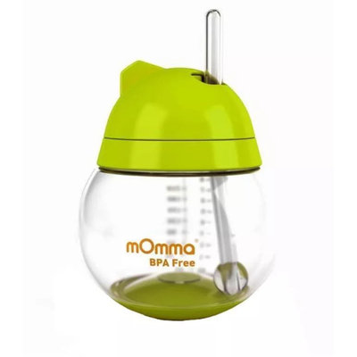 Lansinoh mOmma Straw Cup Without Handles - Green