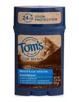 Tom's OF MAINE Mountain Spring Men's Long Lasting Wide Stick Deodorant