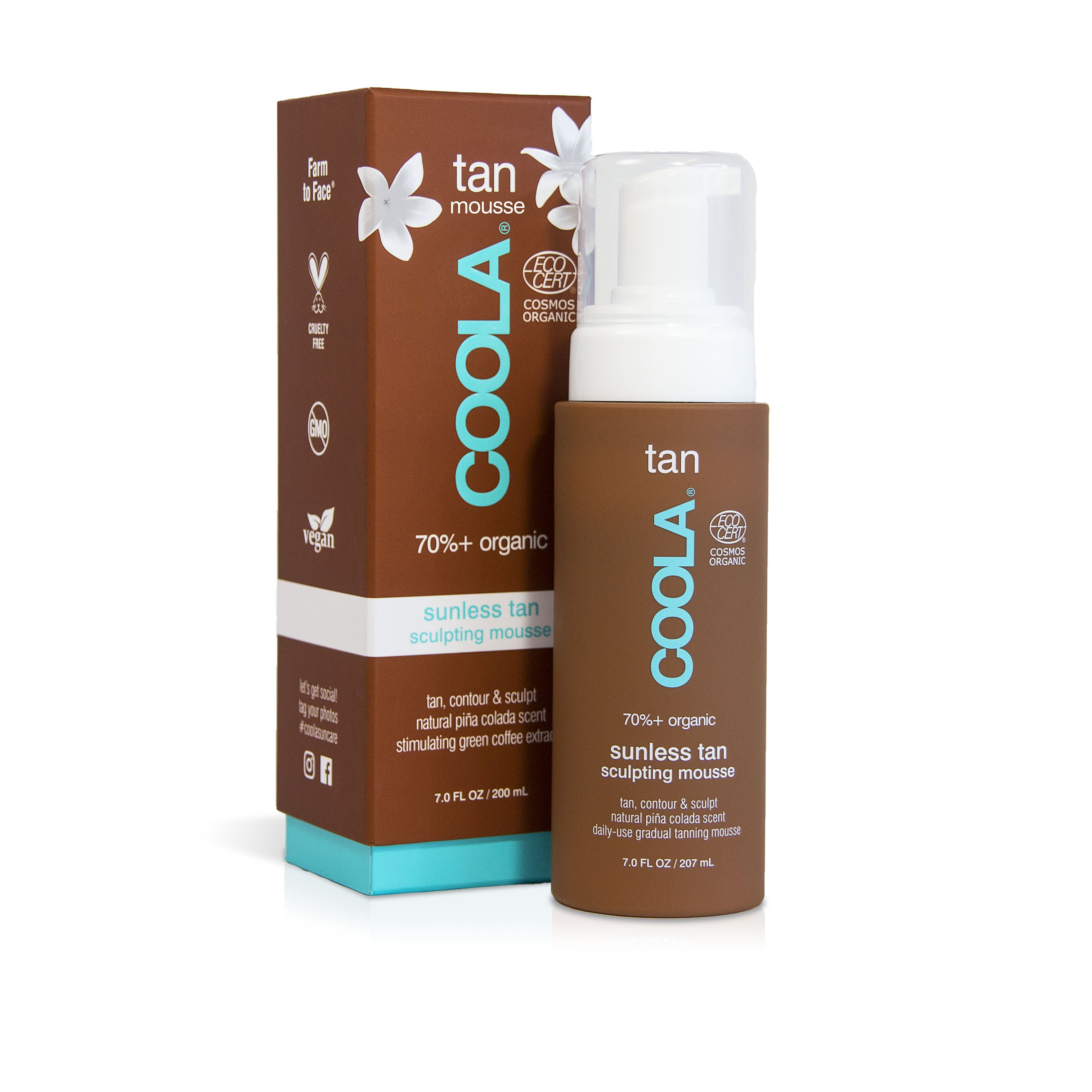 COOLA Organic Sunless Tan Sculpting Mousse