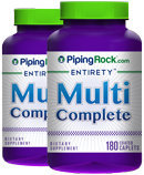 Piping Rock Multi Vitamin Complete 2 Bottles x 180 Caplets