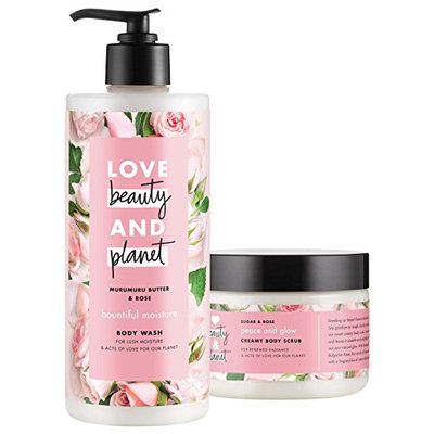 Love Beauty And Planet Murumuru Butter & Rose Blooming Color Body Wash & Scrub