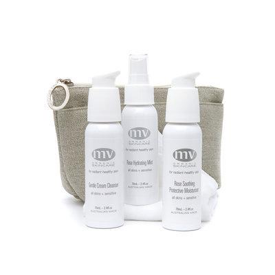 Luxury Travel Essentials 3 x 70ml, cloth by MV Organic Skincare