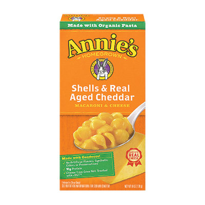 Annie's® Homegrown Organic Shells & Real Aged Cheddar Macaroni & Cheese