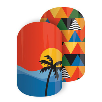 Jamberry Rio Sunset Nail Wrap