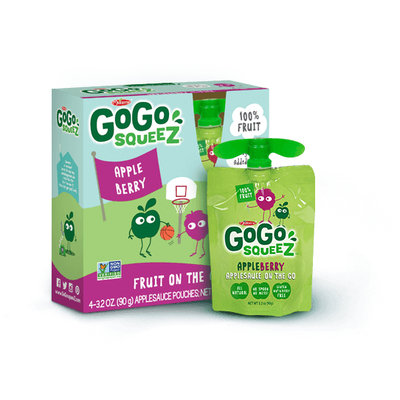 GoGo SQUEEZ APPLE BERRY APPLESAUCE ON THE GO