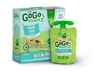 GoGo SQUEEZ GIMME FIVE APPLESAUCE ON THE GO