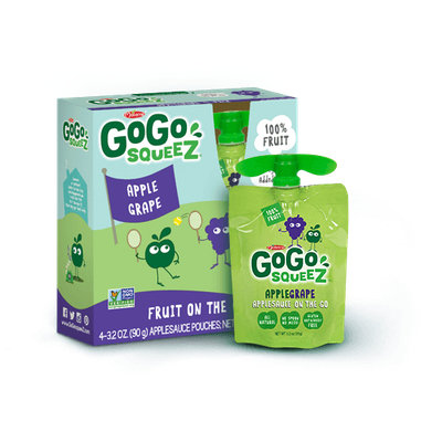 GoGo SQUEEZ APPLE GRAPE APPLESAUCE ON THE GO