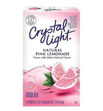 Crystal Light On The Go Natural Pink Lemonade Drink Mix