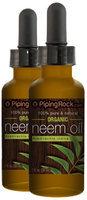Piping Rock Neem Oil 2 Dropper Bottles x 1 fl oz