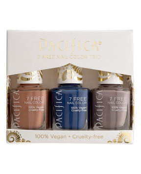Pacifica Neutral Blues 7 Free Nail Color Trio
