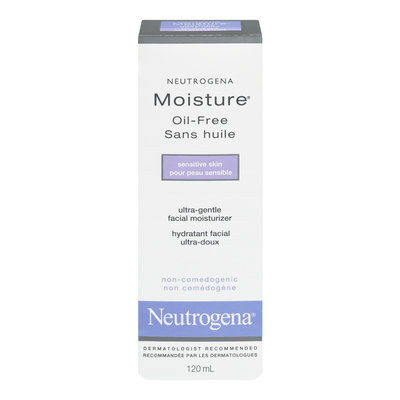Neutrogena Moisture Oil-Free, For Sensitive Skin, 120 mL