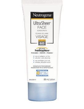 Neutrogena Ultra Sheer Face Sunscreen, SPF 60