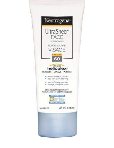 Neutrogena Ultra Sheer Face Sunscreen, SPF 60, 88 mL