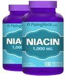 Piping Rock Niacin 1000mg 2 Bottles x 100 Capsules