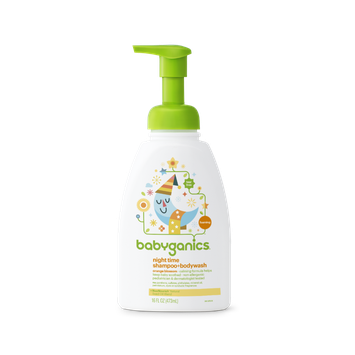 Babyganics Night Time Shampoo + Body Wash, Orange Blossom
