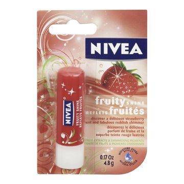 Nivea Fruity Shine Lip Care, Strawberry, 4.8 g