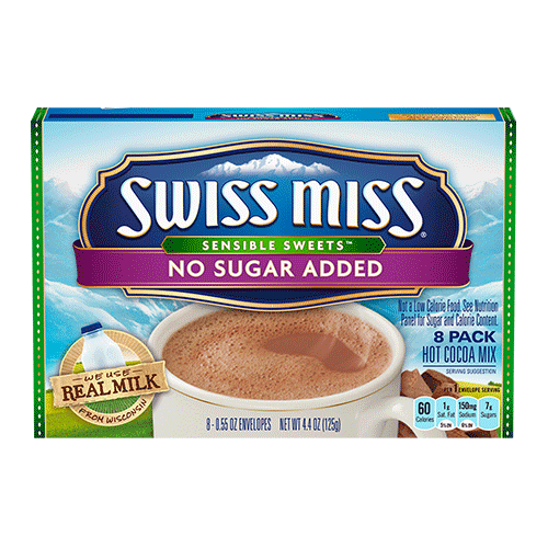 Swiss Miss Sensible Sweets No Sugar Added Hot Cocoa Mix