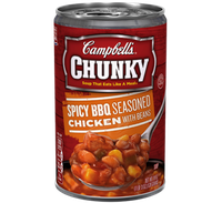 Campbell's® Chunky Spicy BBQ Seasoned Chicken with Beans Soup