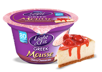 Light & Fit® Greek Cherry Cheesecake Yogurt Mousse