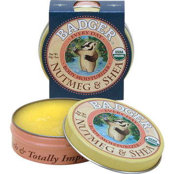 Badger Balm Shea Butter Everyday Moisturizer with Nutmeg