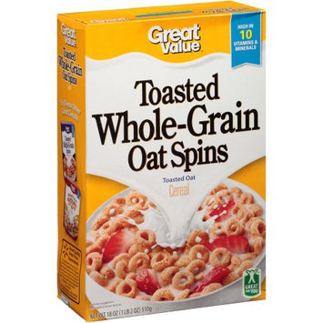 Organic Great Value Toasted Oats Cereal