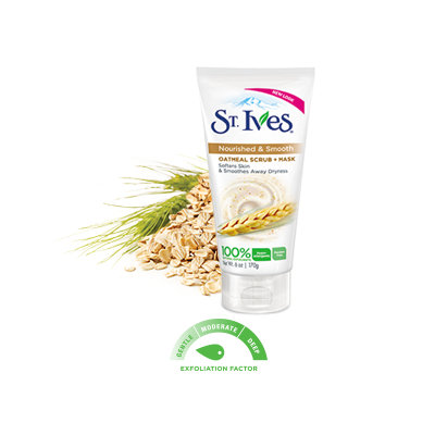 St. Ives® Nourish & Smooth Oatmeal Scrub + Mask