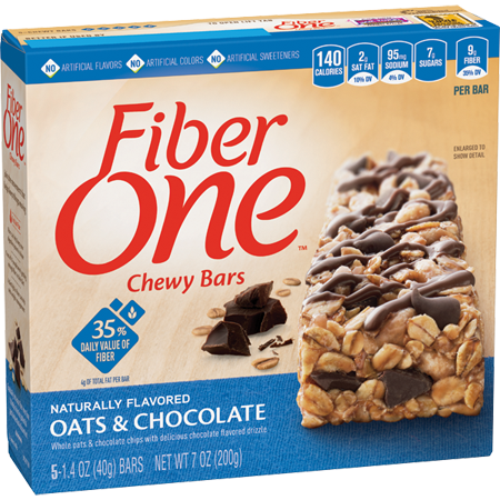 Approved by Dr. Becky Maes - Yes, Fiber One bars are bad for you. Although they contain around nine grams of fiber, they also have up to 10 grams of sugar—plus artificial colors and flavors. There are better ways to get your daily recommended serving of fiber.