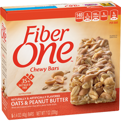 Fiber One Chewy Bars Oats and Peanut Butter