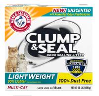 ARM & HAMMER™ Clump & Seal™ Lightweight Odor Sealing Clumping Litter, Unscented