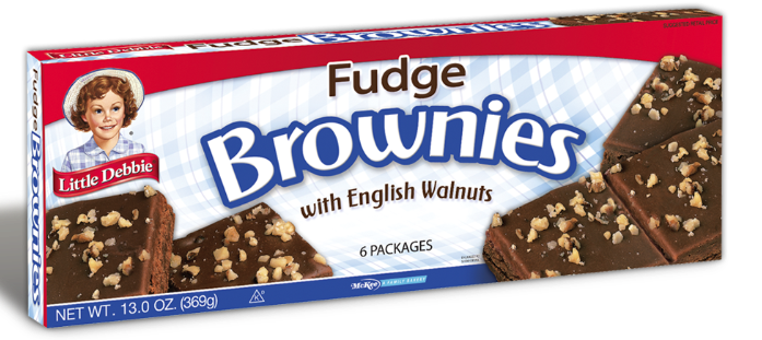 Little Debbie® Fudge Brownies With English Walnuts