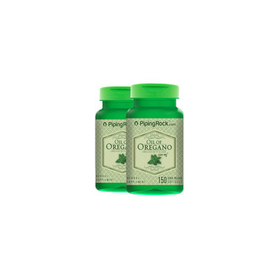 Piping Rock Oil of Oregano 1500 mg 2 Bottles x 150 Liquid Caps