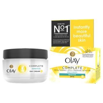 Olay Complete Cream All Day Moisturizer with SPF 15 for Sensitive Skin