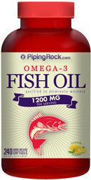 Piping Rock Omega-3 Fish Oil 1200mg 240 Softgels