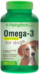 Piping Rock Omega-3 for Dogs 180 Softgels