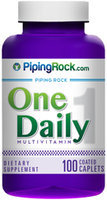 Piping Rock One Daily 100 Coated Caplets