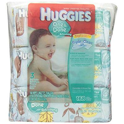 Huggies® One & Done Refreshing Cucumber & Green Tea Wipes