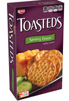 Keebler Toasteds Savory Onion Crackers