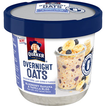 Quaker® Overnight Oats Blueberry, Banana, And Vanilla Bliss