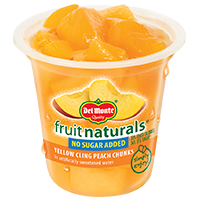 Del Monte® Fruit Naturals No Sugar Added Yellow Cling Peach Chunks in