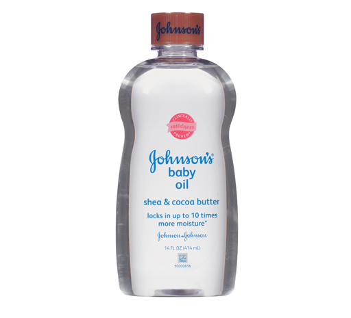 Johnson's® Baby Oil Shea and Cocoa Butter