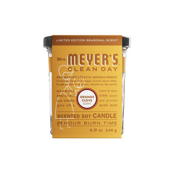 Mrs. Meyer's Clean Day Orange Clove Scented Soy Candle