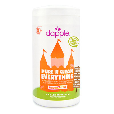 dapple All Purpose Cleaner Wipes Fragrance-Free