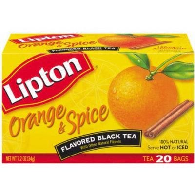 Lipton® Flavored Black Tea Orange & Spice Tea Bags Boxes