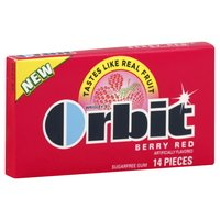 Orbit Berry Red Sugarless Chewing Gum Fourteen Piece Packs