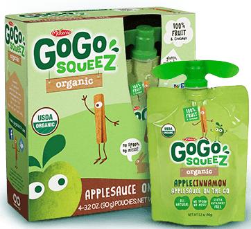 Gogo Squeez Apple Cinnamon Organic Applesauce